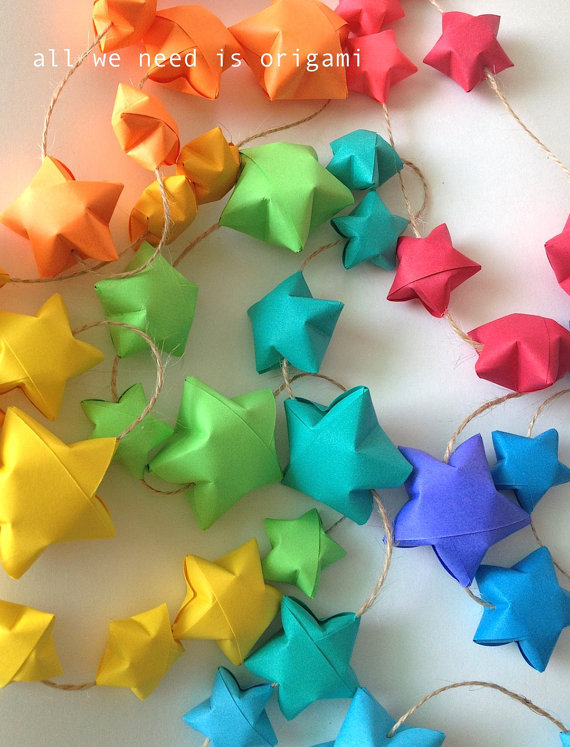 BABY NURSERY RAINBOW garland baby by allweneedisorigami on Etsy