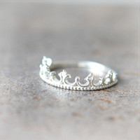 Tiara Ring in sterling silver by laonato on Etsy