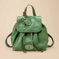 Amazon.com: Fossil Maddox Leather Backpack (Green): Clothing