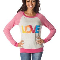 LOVE Baseball T Shirt - Pink at Lucky 21 Lucky 21