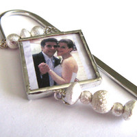 Personalized Wedding Memories Glass Charm by classyandsassycharms