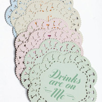 Indelicate Doilies Coaster Set - $10.00 : ThreadSence.com, Your Spot For Indie Clothing & Indie Urban Culture
