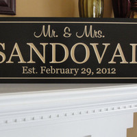 Personalized Wedding Signs Family name signs by michaelswoodworks