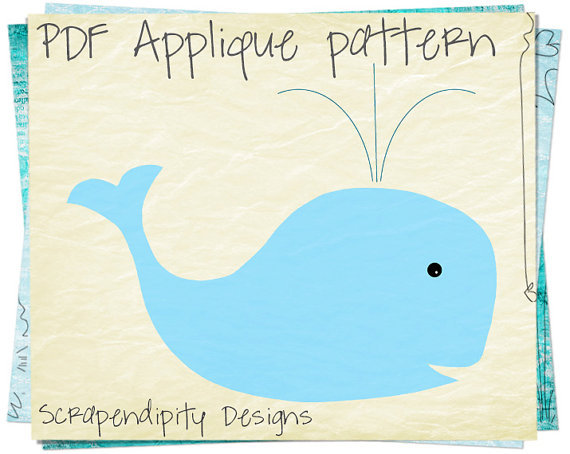 whale applique template