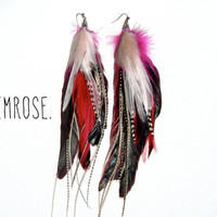 PRIMROSE Extra Long Feather Earrings