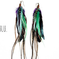 LULU Extra Long Feather Earrings