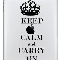 Keep Calm and Carry On Ipad Decal  FREE SHIPPING