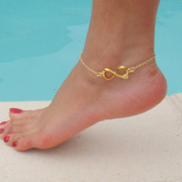 LOVE Anklet - Gold Plated Tiffany & co inspired