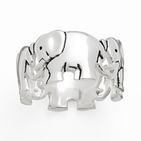 Silver Plate Elephant Ring