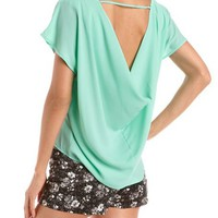 Draped Back Hi-Low Blouse: Charlotte Russe