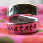 The original Hakuna Matata Version III Aluminum swirl ring