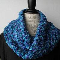 Ocean Blue Simply Soft Colored Infinity Scarf or Cowl