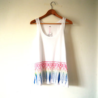 Rainbow tribal tunic