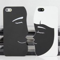 Best2buy365 Valentine's Day Gifts--Cartoon Couple Frosted Hard Case Cover For iphone 5 5G Love Gift 2pcs