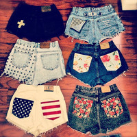high waisted shorts custom made to order