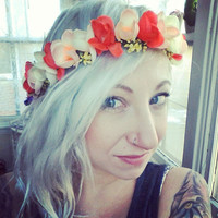 Peachy Keen Flower Crown