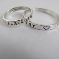 His and Hers Sterling Silver Personalized Hand by christienano