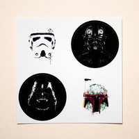 Star Wars stickers by purplecactusdesign on Etsy