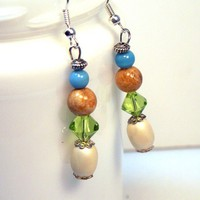 Spring Colors Easter Egg Earrings