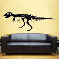 large TRex Dinosaur vinyl Wall DECAL museum interior by EyvalDecal