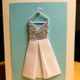 Origami Wedding Dress Card, Fashion, Woman, Congratulations