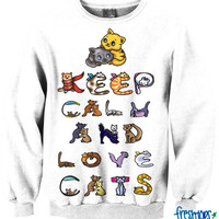 Keep Calm and Love Cats | fresh-tops.com