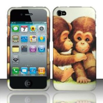 Amazon.com: BABY MONKEYS Hard Plastic Design Matte Case for Apple iPhone 4 / 4S [In Twisted Tech Retail Packaging]: Cell Phones & Accessories