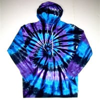 Adult Medium Tie Dye Hoodie/ Moon Shadow Spiral