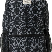 Empyre Girls Black Floral Roll Call Laptop Backpack