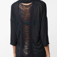 Sparkle & Fade Fringe Back Button-Down Shirt
