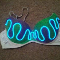 LIGHT UP BRA // The oringinal sound responsive light up bra :) Custom orders welcome.