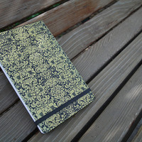 Damask Wallpaper Reporter Notebook