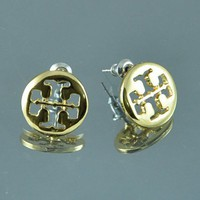 Tiny Cross Earrings, Tiny tory burch style stud earrings