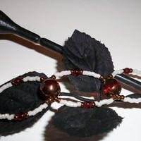 Womens beaded bracelet/anklet