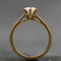 Single Stone Solitaire Diamond 18ct Yellow Gold Engagement Ring by Ruby Gray's | Ruby Gray's Antique & Vintage Rings