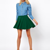 ASOS Skater Skirt in Rib