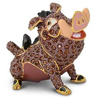 Jeweled The Lion King Figurine by Arribas -- Pumbaa | Disney Store