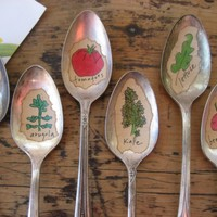 VEGETABLES  Old Silver Spoon Garden Marker