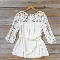 Distant Thunder Blouse, Sweet Cozy Lace Tops