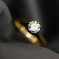 Antique Solitaire Diamond Engagement Ring by Ruby Gray&#x27;s | Ruby Gray&#x27;s Antique &amp; Vintage Rings
