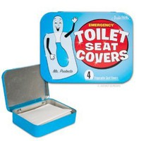 Amazon.com: Accoutrements Emergency Toilet Seat Covers: Toys &amp; Games
