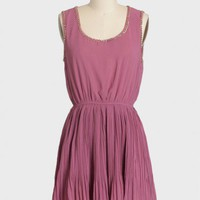 persephone pleated chain detail dress at ShopRuche.com