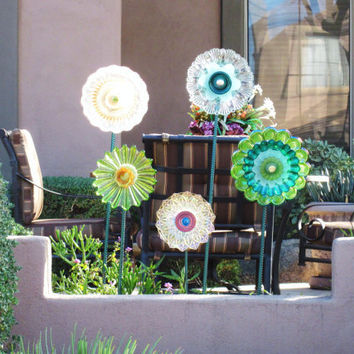 Yard and garden art outdoor decor from jarmfarm on etsy for Upcycled yard decor