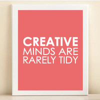 Pink Creative Minds print poster by AmandaCatherineDes on Etsy