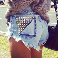 The Studded Pocket Shorts