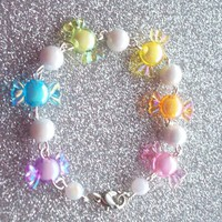 Pastel Rainbow Candy Charm Bracelet from On Secret Wings