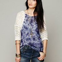 Free People We The Free Crochet Love Raglan