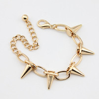 Instafashion  Gorgeous Gold Spike Chain Bracelet