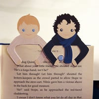 Sherlock &amp; John Bookmark set