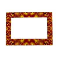 Flames Abstract Magnetic Frames from Zazzle.com